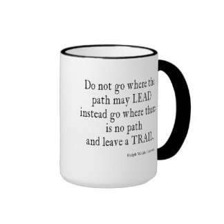 Vintage Emerson Inspirational Leadership Quote Ringer Coffee Mug