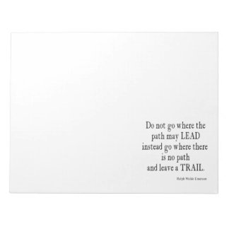 Vintage Emerson Inspirational Leadership Quote Scratch Pads