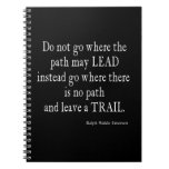 Vintage Emerson Inspirational Leadership Quote Spiral Notebook