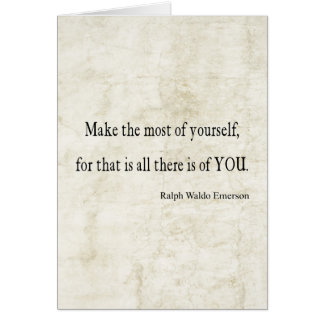 Vintage Emerson Inspirational Quote Card