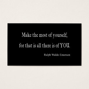 Inspirational quotes business cards templates zazzle vintage emerson inspirational quote customizable business card reheart Gallery