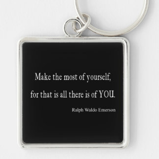 Vintage Emerson Inspirational Quote - Customizable Keychain