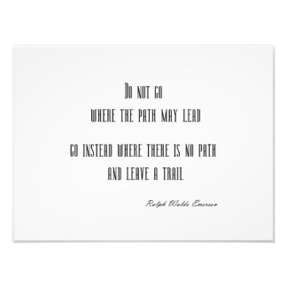 Vintage Emerson Inspirational Quote Customizable Photo Print