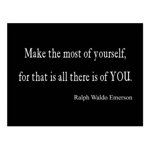 Vintage Emerson Inspirational Quote - Customizable Post Cards