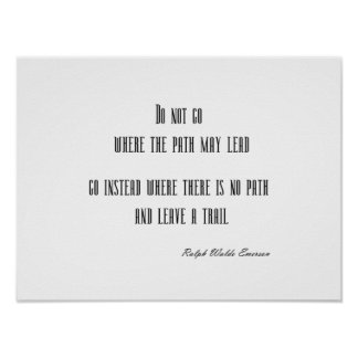 Vintage Emerson Inspirational Quote Customizable Poster