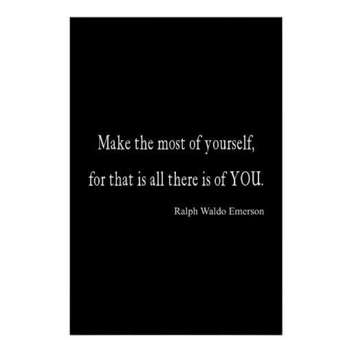 Vintage Emerson Inspirational Quote - Customizable Posters