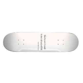 Vintage Emerson Inspirational Quote - Customizable Skate Decks