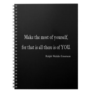 Vintage Emerson Inspirational Quote - Customizable Spiral Notebook