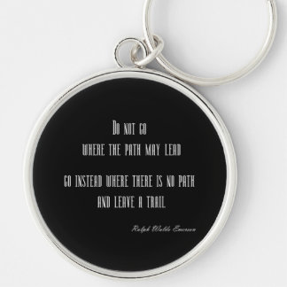 Vintage Emerson Inspirational Quote on Black Keychain