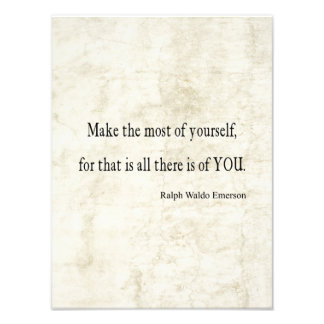 Vintage Emerson Inspirational Quote Photo