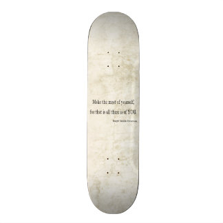 Vintage Emerson Inspirational Quote Skateboard