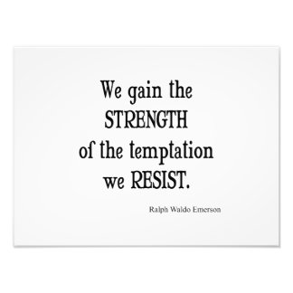Vintage Emerson Inspirational Strength Quote Photo Print