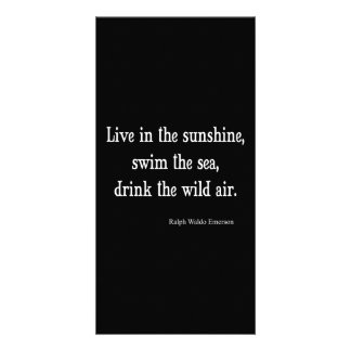 Vintage Emerson Live in Sunshine Quote Photo Card Template