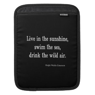 Vintage Emerson Live in Sunshine Quote Sleeve For iPads