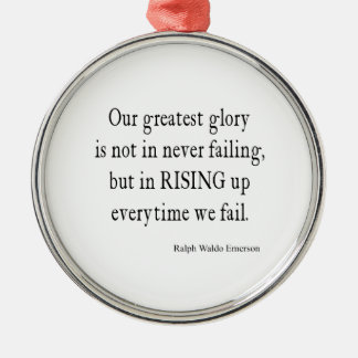 Vintage Emerson Overcoming Failure Quote Metal Ornament
