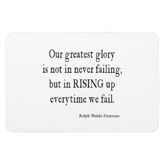 Vintage Emerson Overcoming Failure Quote Rectangular Photo Magnet