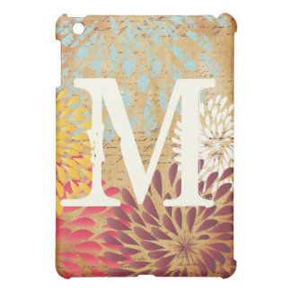 Vintage Emphera Modern Floral Monogam iPad Mini iPad Mini Case