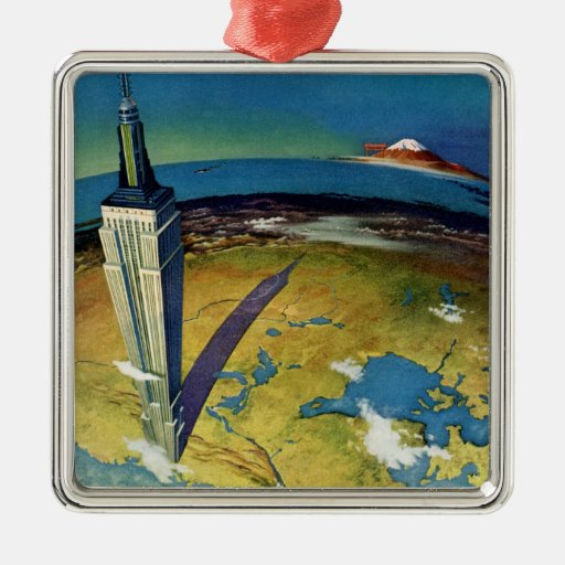 Vintage Empire State Building New York City Christmas Ornament