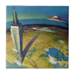 Vintage Empire State Building New York City Ceramic Tile