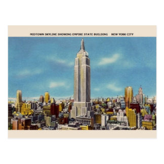 Vintage Empire State Building NYC Postcard