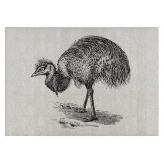 Vintage Emu Australian Bird Illustration Template Cutting Board