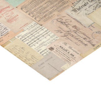 Vintage en la impresión 2 papel de seda pequeño