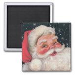 Vintage encantador Papá Noel Imán De Frigorífico