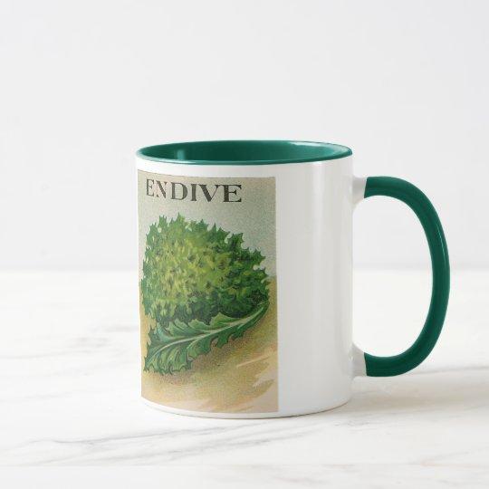 vintage endive seed packet mug