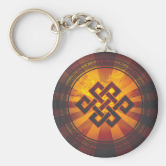 Vintage Endless Knot Print Keychains