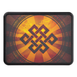 Vintage Endless Knot Print Tow Hitch Cover