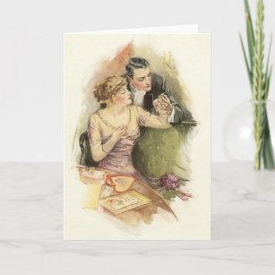 Engagement congratulations cards zazzle vintage engagement marriage proposal greeting card m4hsunfo
