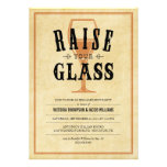 Vintage Engagement Party Toast Invitations