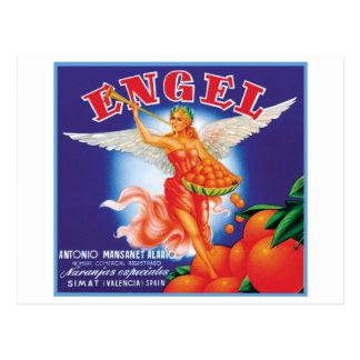 Vintage Engel Fruit Crate Label Postcard