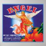 Vintage Engel Fruit Crate Label Poster