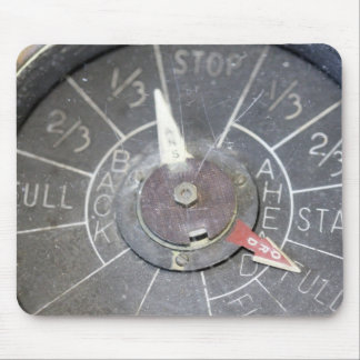 Vintage Engine Order Telegraph Indicator Dial Mouse Pad