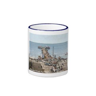 Vintage England  Blackpool 1890's Ringer Coffee Mug