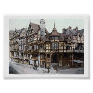 Vintage England  Chester 1890's Posters
