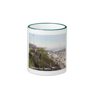 Vintage England Clacton-on-Sea 1890 s Coffee Mugs