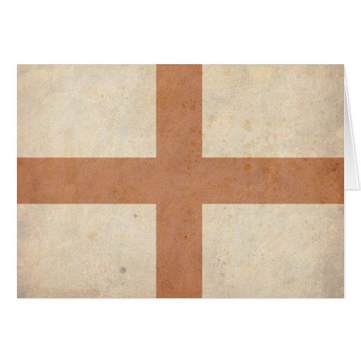 Vintage England Flag Greeting Card