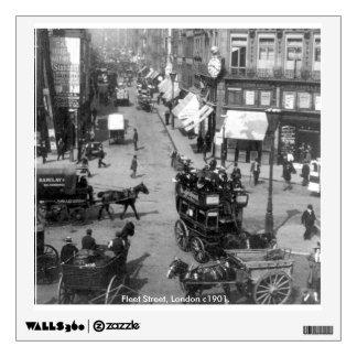 Vintage England, Fleet Street, London c1901 Wall Sticker