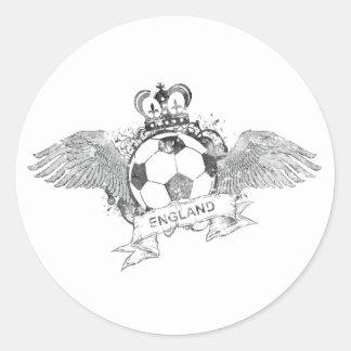 Vintage England Football Classic Round Sticker