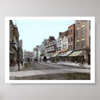 Vintage England  Gloucester 1890's Poster