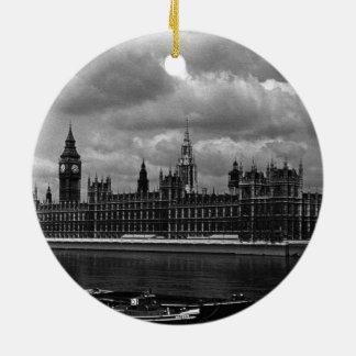 Vintage England London parliament houses 70s Ceramic Ornament