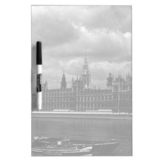 Vintage England London parliament houses 70s Dry Erase Board