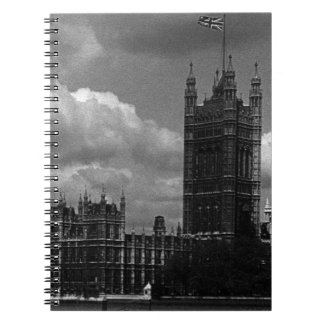 Vintage England London parliament houses 70s Spiral Notebook