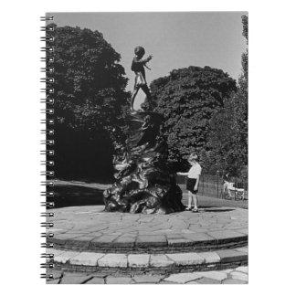 Vintage England London Peter Pan statue Kensington Spiral Notebook