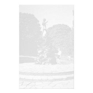 Vintage England London Peter Pan statue Kensington Stationery
