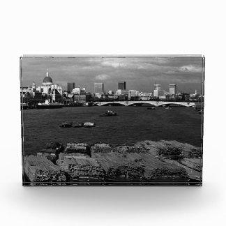Vintage England London Thames river skyline city Acrylic Award
