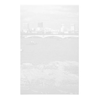 Vintage England London Thames river skyline city Stationery
