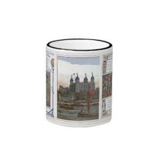 Vintage England  London Tower 1840's Ringer Mug